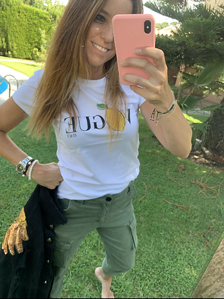 Camiseta VOGUE limón/fresa