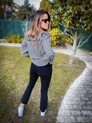 Pantalón crop negro