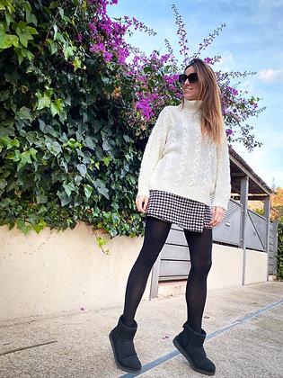 Jersey lana cuello alto trenzado