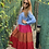Thumbnail: Vestido volantes azul y fucsia
