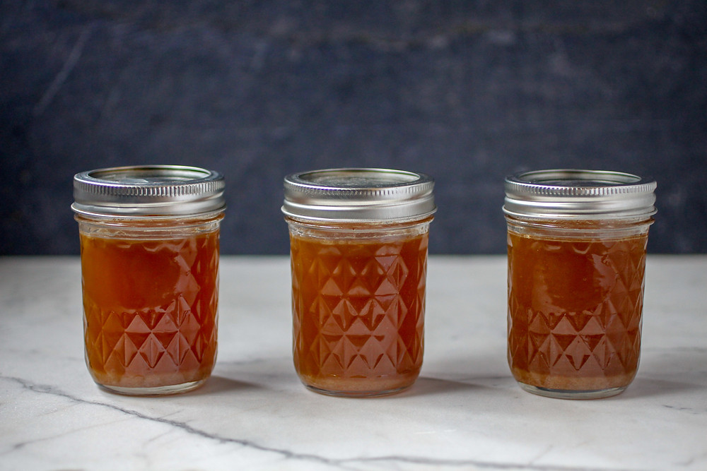 Bone broth full of collagen and other gut healing nutrients