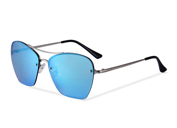 Quattrocento Eyewear Italian Sunglasses with Blue Lenses Model De Rosa