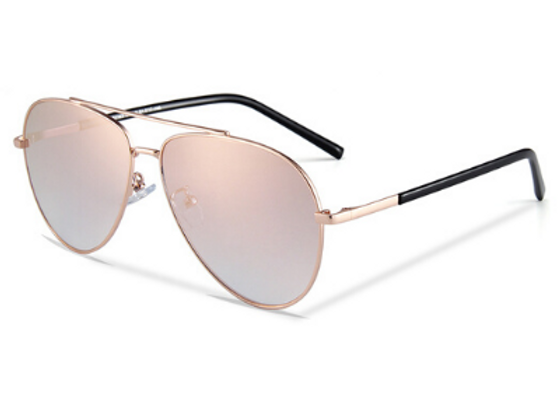 Quattrocento Eyewear Italian Sunglasses with Pink Lenses Model Martinelli