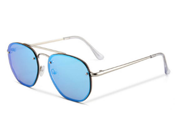 Quattrocento Eyewear Italian Sunglasses with Blue Lenses Model Ferrari