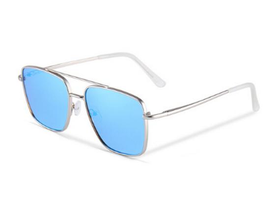 Quattrocento Eyewear Italian Sunglasses with Blue Lenses Model Romano