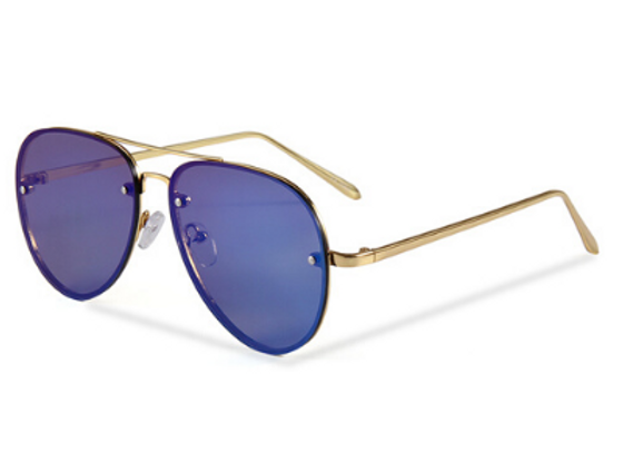 Quattrocento Eyewear Italian Sunglasses with Blue Lenses Model Galli