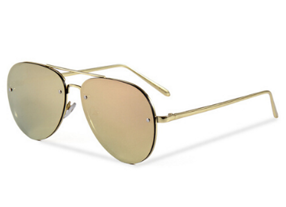 Quattrocento Eyewear Italian Sunglasses with Gold Lenses Model Leone
