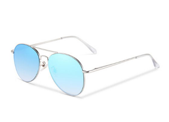 Quattrocento Eyewear Italian Sunglasses with Light Blue Lenses Model Ricci