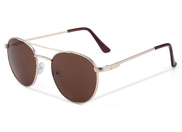 Quattrocento Eyewear Italian Sunglasses with Brown Lenses Model Rossetti