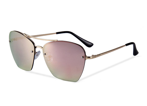 Quattrocento Eyewear Italian Sunglasses with Pink Lenses Model Ferretti