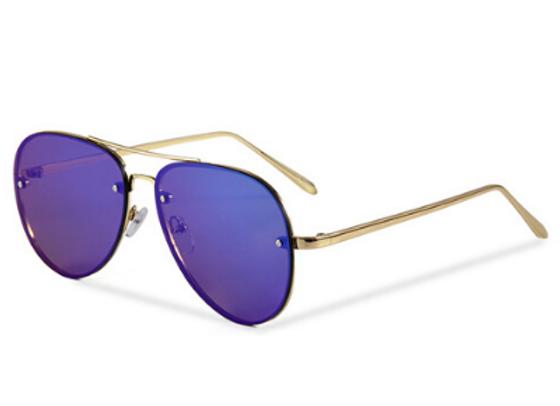 Quattrocento Eyewear Italian Sunglasses with Blue Lenses Model Ferrara
