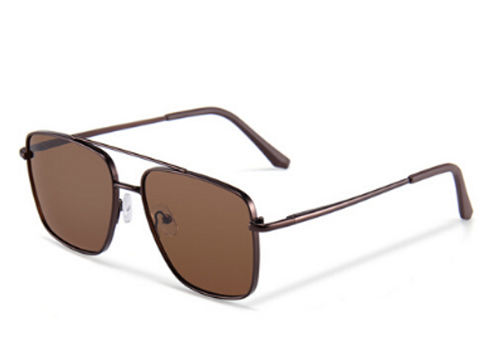 Quattrocento Eyewear Italian Sunglasses with Brown Lenses Model Bianchi