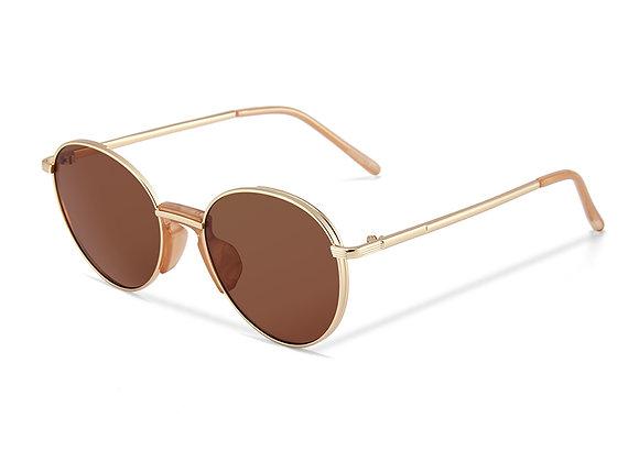 Quattrocento Eyewear Italian Sunglasses with Brown Lenses Model Basile