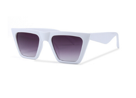 Quattrocento Eyewear Italian Sunglasses with Gradient Dark Lenses Model Bianco