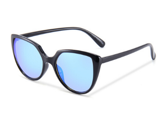 Quattrocento Eyewear Italian Sunglasses with Blue Lenses Model Marchetti