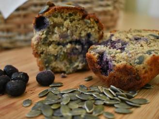 Blueberry & Pumpkin Seed Breakfast Muffins