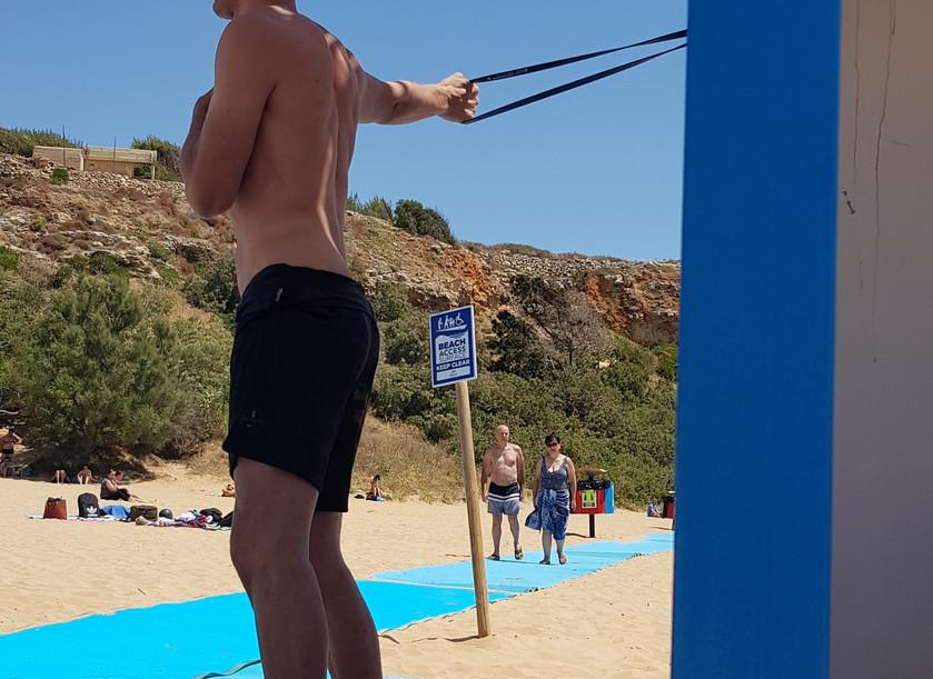 shoulder recovery- Golden Bay Beach Malta