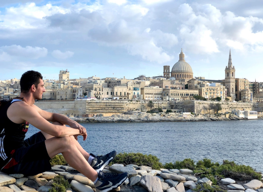 glad to call this stunning place home- Valetta, Malta, in the background