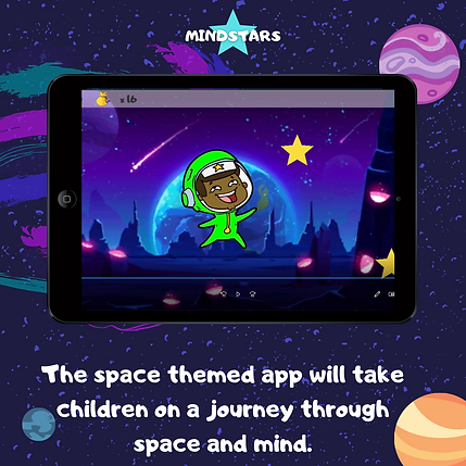 The space themed app will take children