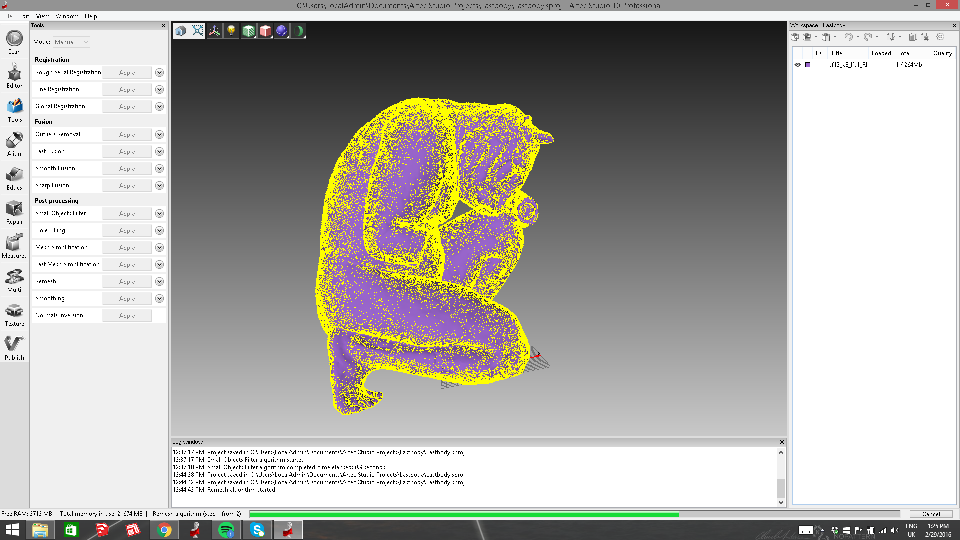 Minotaur scan data