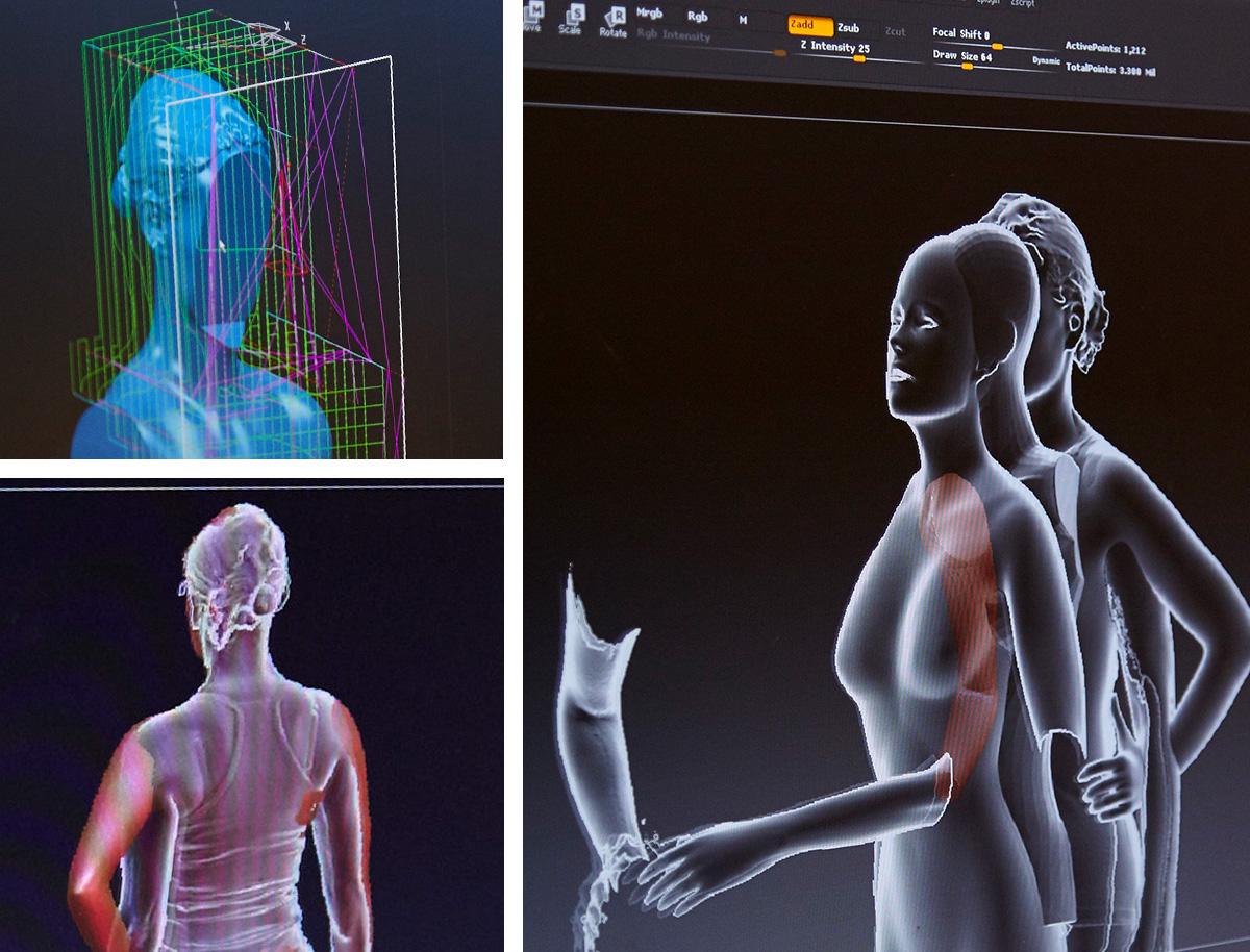 3D scan screenshots