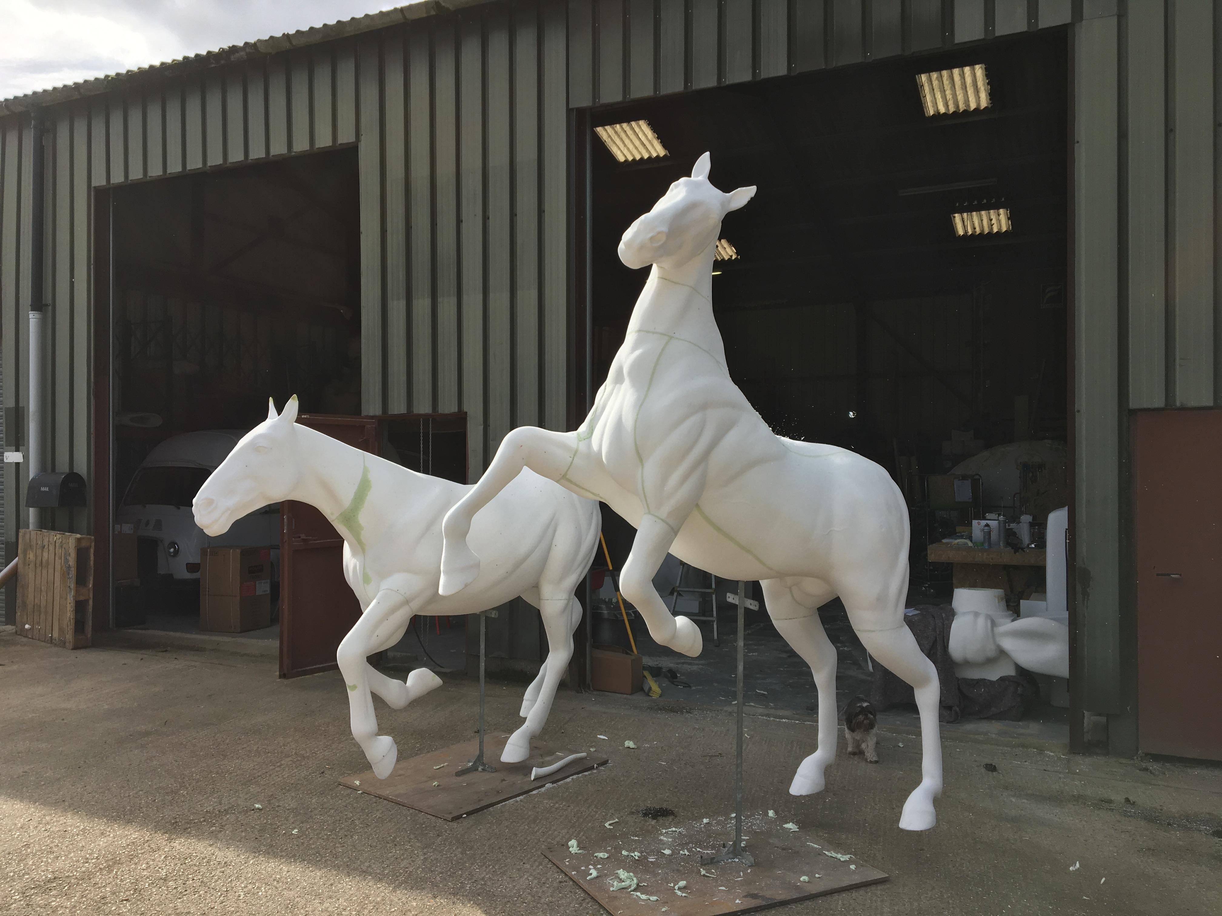 Horses assembled