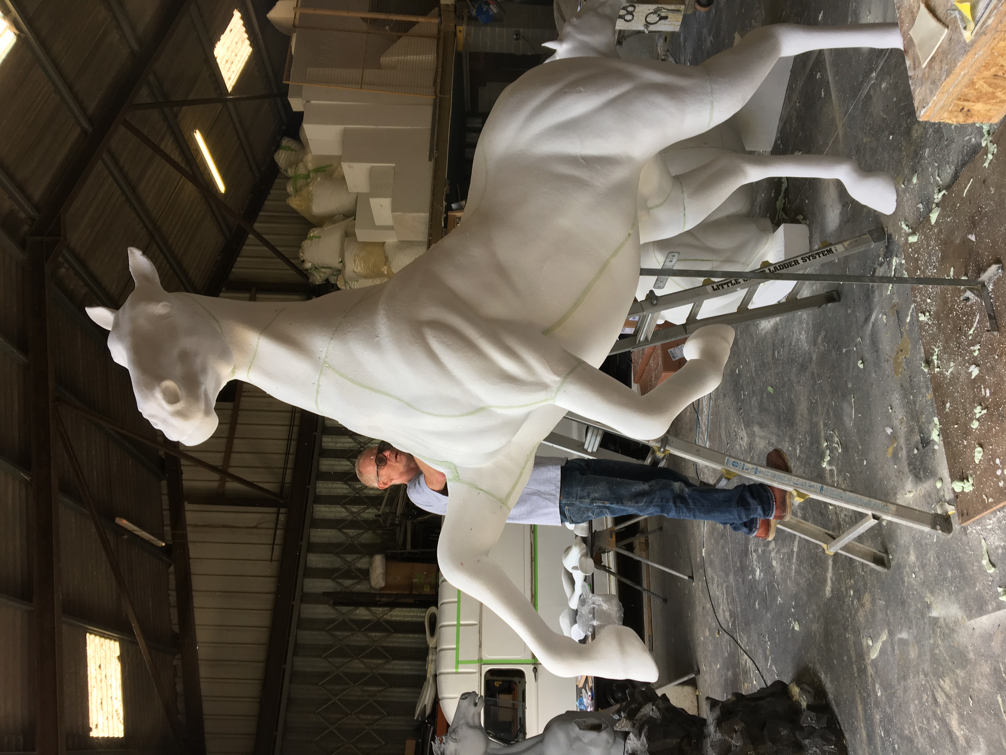 Horse model assembly/finishing