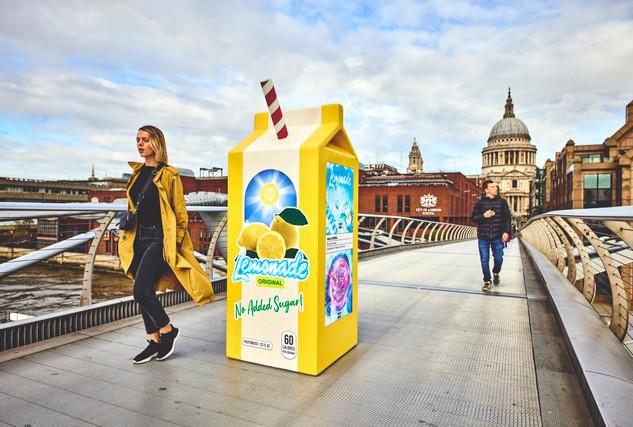 Internet Money: Promotional lemonade carton