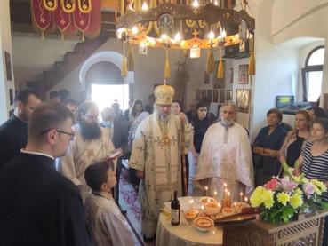 El Obispo Kirilo ofició en la iglesia de Santa Tekla (Danilovgrad) el sábado de los difuntos