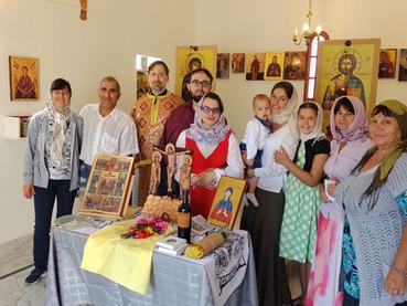 Fotos de la Divina Liturgia celebrada en la nueva Iglesia dedicada a Santa Paraskeva en la Patagonia