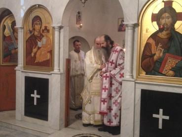 El Monje David fue ordenado Hierodiácono por el Metropolita Amfilohije en la Divina Liturgia en el d