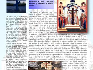 Boletín, Fiesta de la Exaltación de la Santa y Vivificadora Cruz