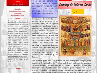Boletín dominical - 2º Domingo de Pentecostés