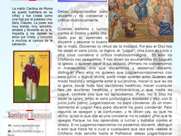 Boletín Dominical, 19 domingo después de Pentecostés