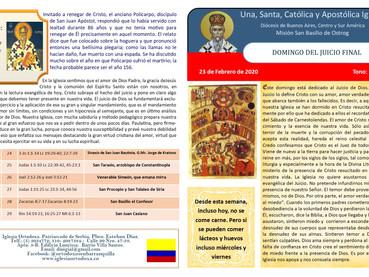 Boletín, Domingo del Juicio Final y de la Abstinencia de la Carne