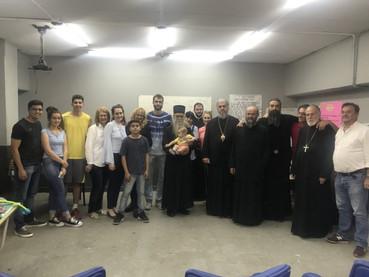El Metropolita Amfilohije y los Obispos Kirilo y Metodije visitaron las clases de idioma serbio dict