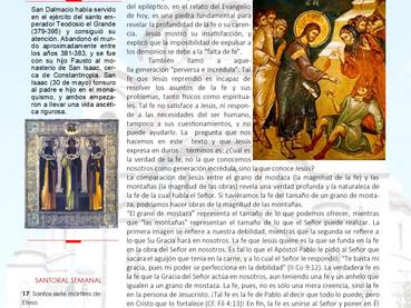 Boletín, 10 domingo después de Pentecostés