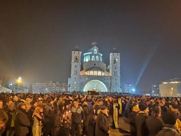 Fotos de la Litija en Podgorica en la Catedral de la Resurrección y Video en Niksic