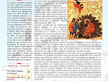 Boletín, Domingo de los Santos Padres