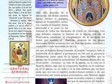 Boletín, Fiesta de Pentecostés