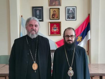 Visitó al Obispo Kirilo el Metropolita Santiago El Khoury, nueva autoridad de la Iglesia Antioquena