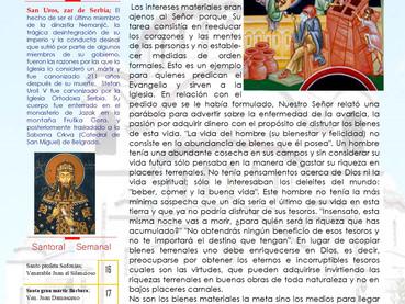 Boletín, Domingo 26º después de Pentecostés