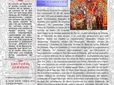 Boletín Dominical, Los Santos Padres del 1er Concilio Ecuménico