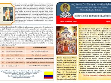 Boletín Dominical 75 - año 2020