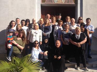 """Fotos de la visita de la Colectividad """"Njegos de Montenegro"""" a la Catedral, y de la presentación del"""