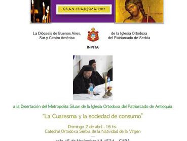 Domingo 2 de ABRIL 16 hs en nuestra Catedral de la Natividad de la Virgen - Disertación del Metropol