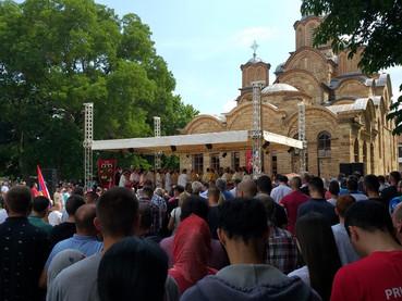 En Vidovdan, el Metropolita Amfilohije y el Obispo Kirilo celebraron la Liturgia en el Monasterio Gr