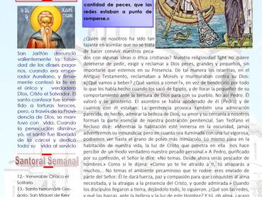 Boletín Dominical, 18 Domingo después de Pentecostés