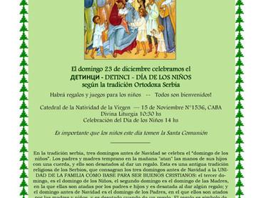 """Este domingo 23 diciembre - """"Detinci"""" festejos por el """"Día de los Niños"""" en la t"""