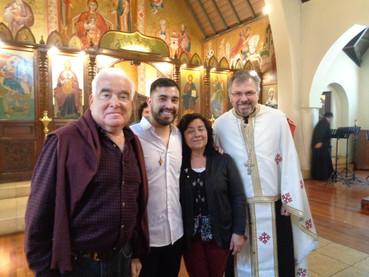 Emotivas palabras del Bautizado en la parroquia de Santiago de Chile